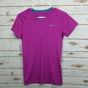Nike Pro Combat Dri Fit Pink T, Size M